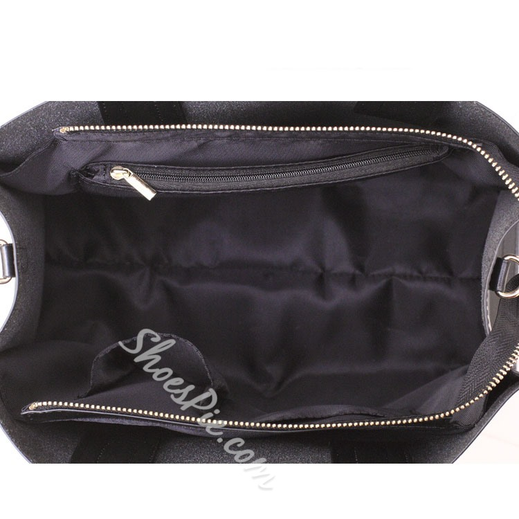 Shoespie Concise Black Handbag