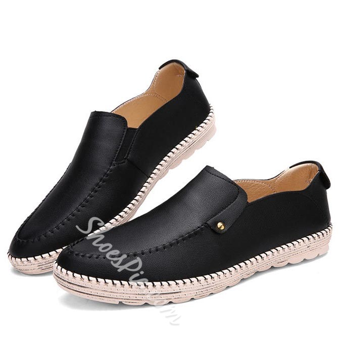 Shoespie Concise Round Toe Men Sneakers