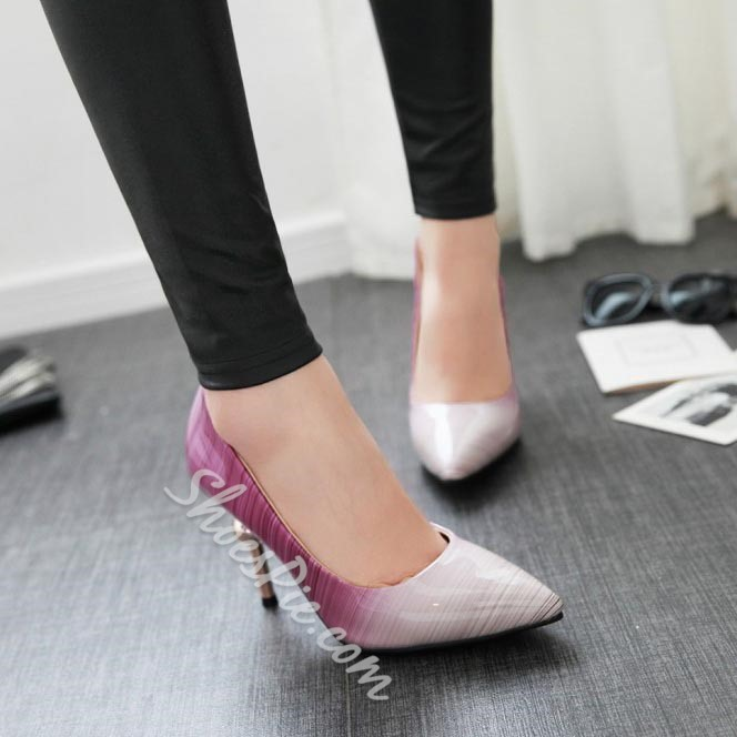 Shoespie Sweet Gradually Changing Color Stiletto Heels