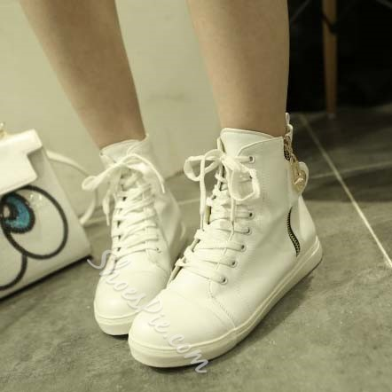 Shoespie Fashionable High Upper Zipper Sneakers