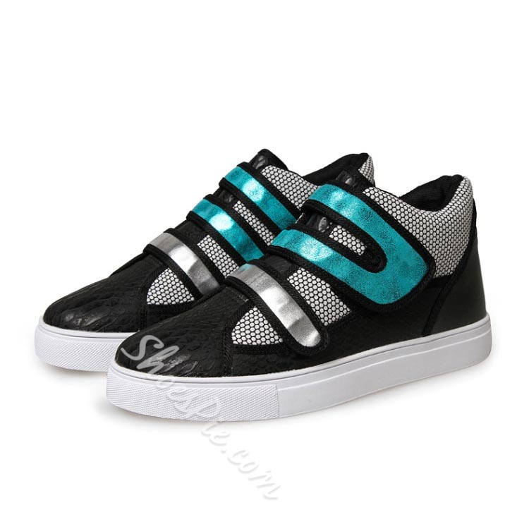 Shoespie Contrast Color Patchwork Round Toe Men Sneakers