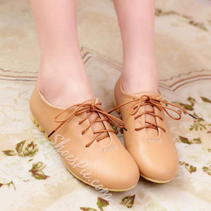 Shoespie Concise Lace Up Causual Shoes