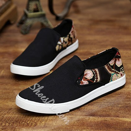 Shoespie Vintage Flower Print Men's Loafers