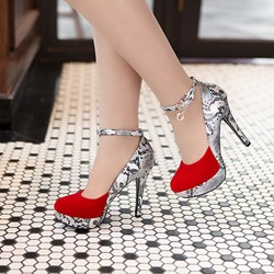 Patchwork Serpentine Stiletto Heels
