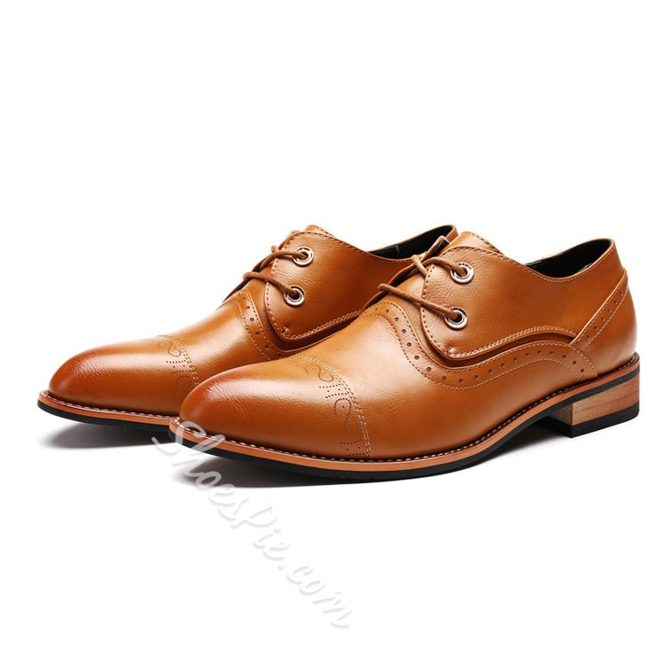 Shoespie Vintage Unique Carving Men's Brogues