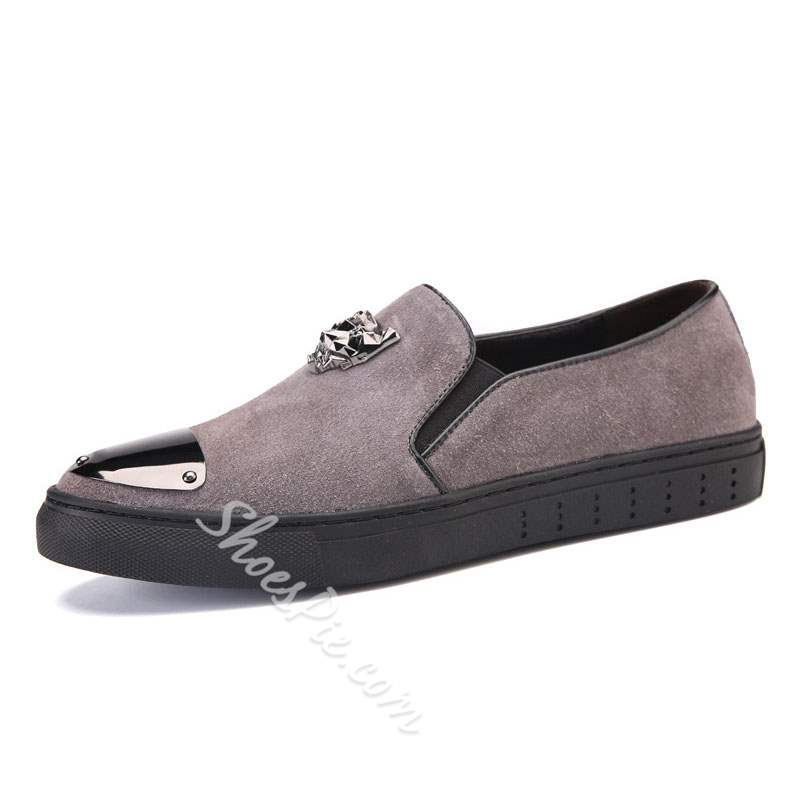 Shoespie Metal Decorated Men's Loafers