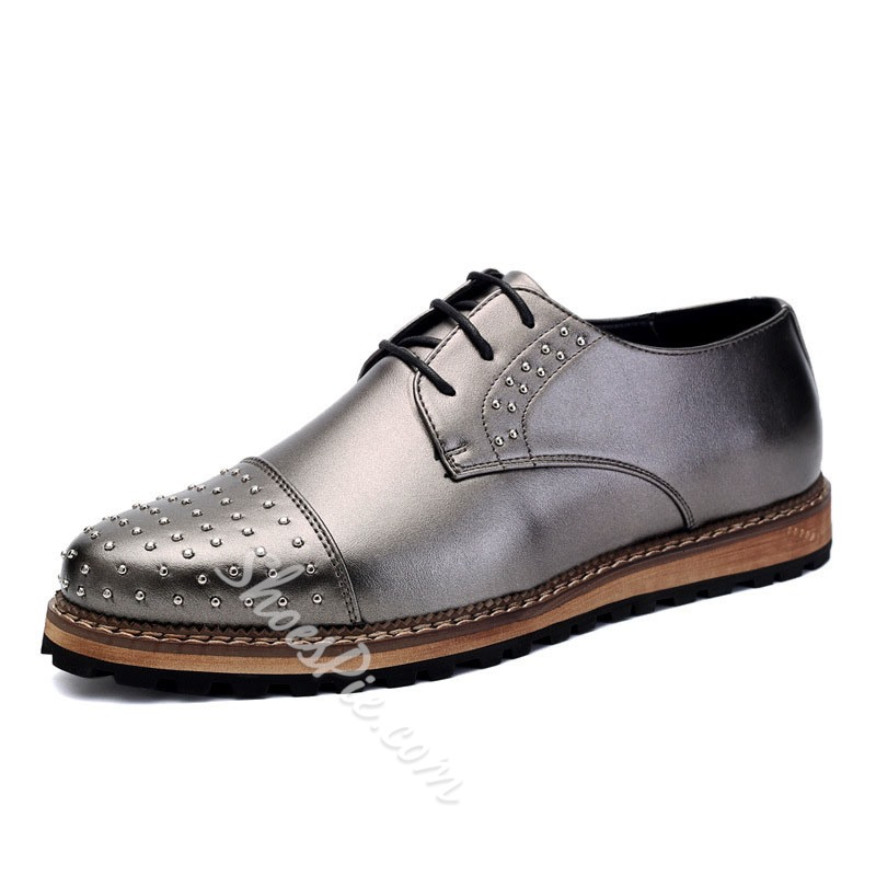 Shoespie Rivets Men's Decorated Men's Shoes