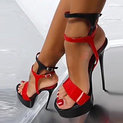 Shoespie Sexy Double Color Platform Sandals