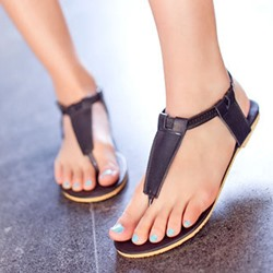 Shoespie New Arrival Concise Thong Flat Sandals