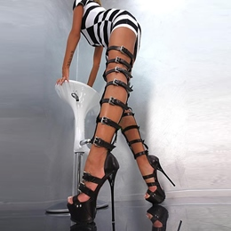 Shoespie Super Sexy Roman Gladiator Thigh High Sandal Boots