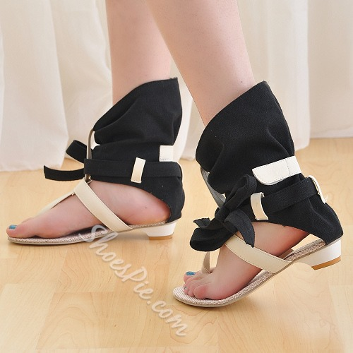 Shoespie Ankle Wrap Gladiator Sandals