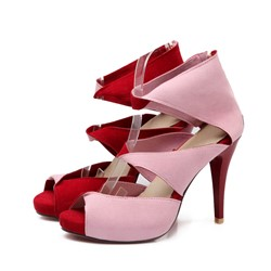Shoespie Sexy Color Block Stiletto Heels Dress Sandals
