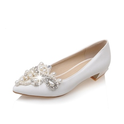 Shoespie Rhinestone Pointed Toe Loafers