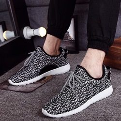 Shoespie Comfortable Light Woven Lace Up Men's Casual Shoes