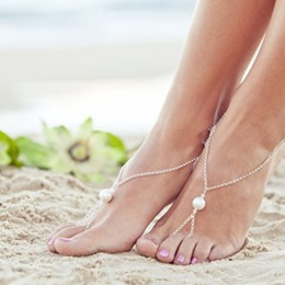 Shoespie Single Pearl Attached Anklets