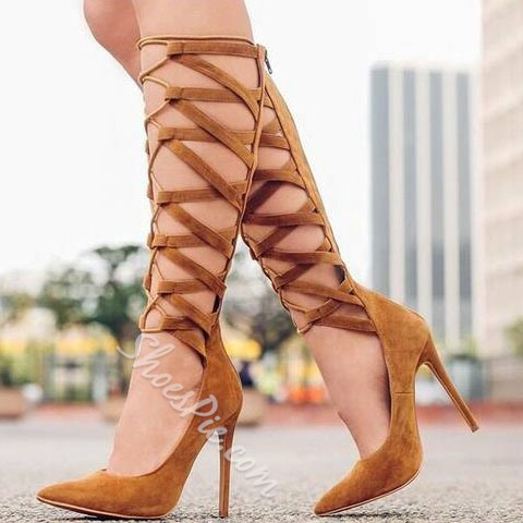 Shoespie Pointed Toe Strappy Looks Stiletto Heels