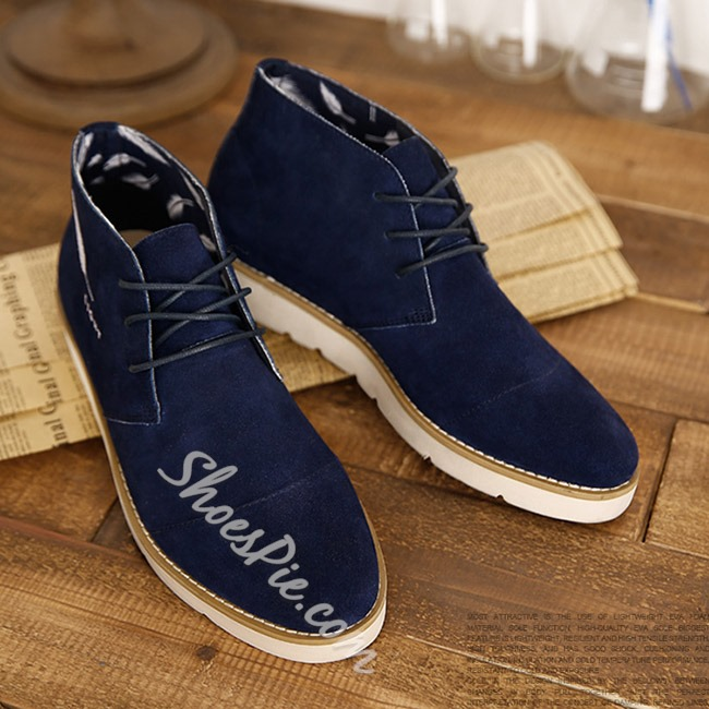 Shoespie Exquisite Feather Embroidery Lace Up Men's Shoes