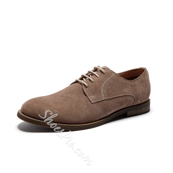 Shoespie Simple Treading Lace Up Men's Shoes