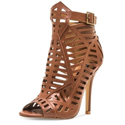 Shoespie Caged Cutout Gladiator Sandals