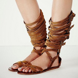 Shoespie Wrap Up Flat Gladiator Sandals