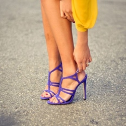 Shoespie Classic Purple Strappy Dress Sandals