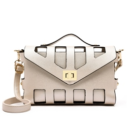 Shoespie Beige Cut Out Crossbody Bag