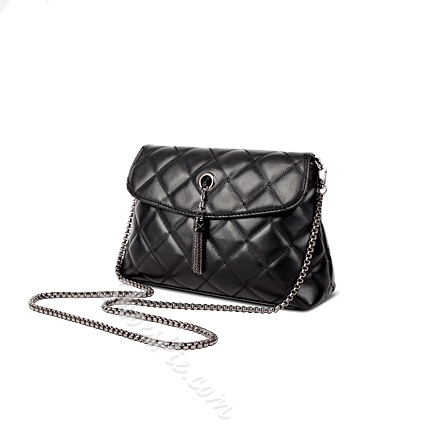 Shoespie Qulited Rhombic Chain Shoulder Bag