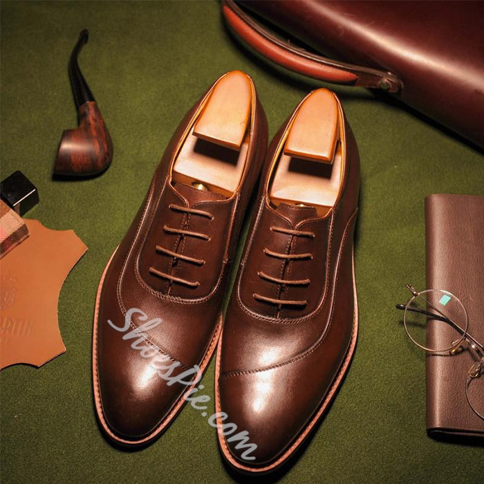 Shoespie Handmade Side Threading Men's Oxfords