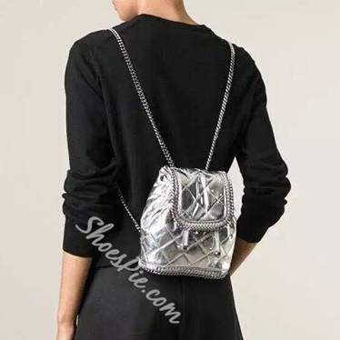 Shoespie Drawstring Chain Backpack