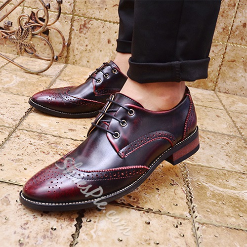 Shoespie Vintage Pointed Toe Men's Brogues