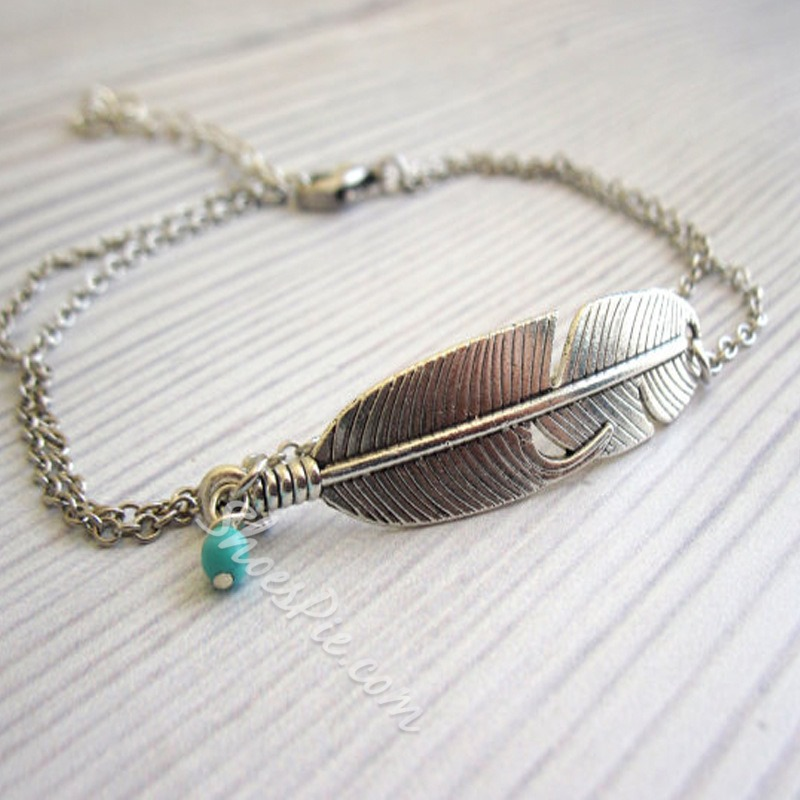Shoespie Vintage Feather Anklet (Single)