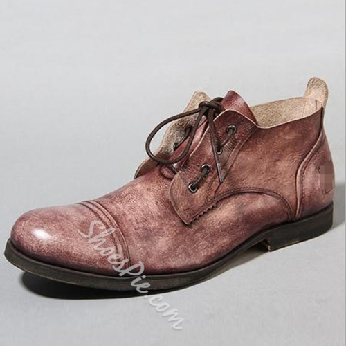Shoespie Washed Color Men's Casual Boots