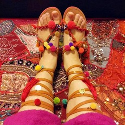 Shoepie Exotic Handmade Flat Sandals