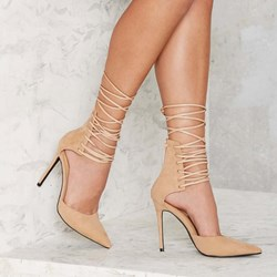 Shoespie Sexy Lace Up Pointed Toe Stiletto Heels