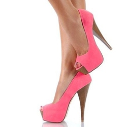 Open Peep Toe Heels - Shoespie.com