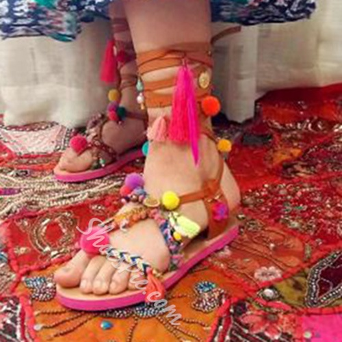 Shoespie Exotic Handmade Flat Sandals