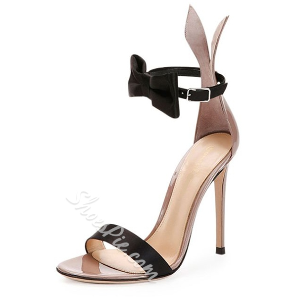 Shoespie Sweet Rabbit Ear and Knot Dress Sandals