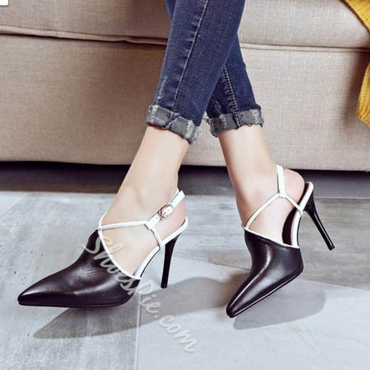 Shoespie Charming String Buckle Stiletto Heels