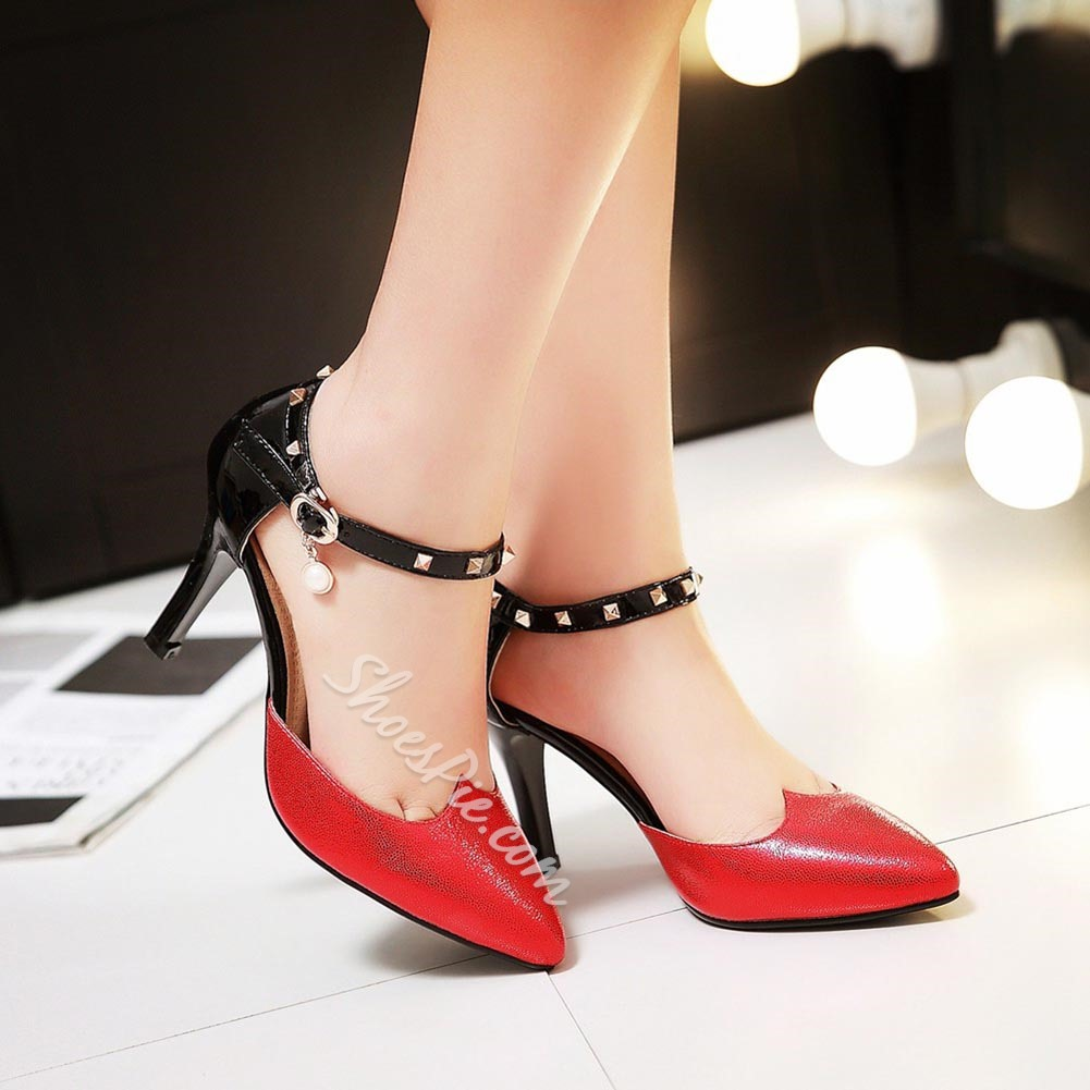 Shoespie Sequined Ankle Wrap Stiletto Heels
