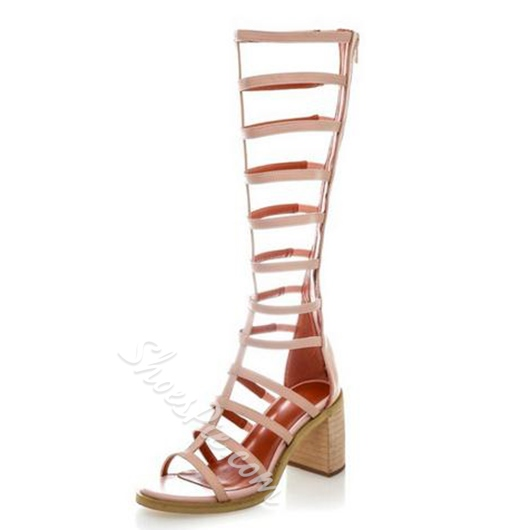 Shoespie Knee High Gladiator Sandal Boots