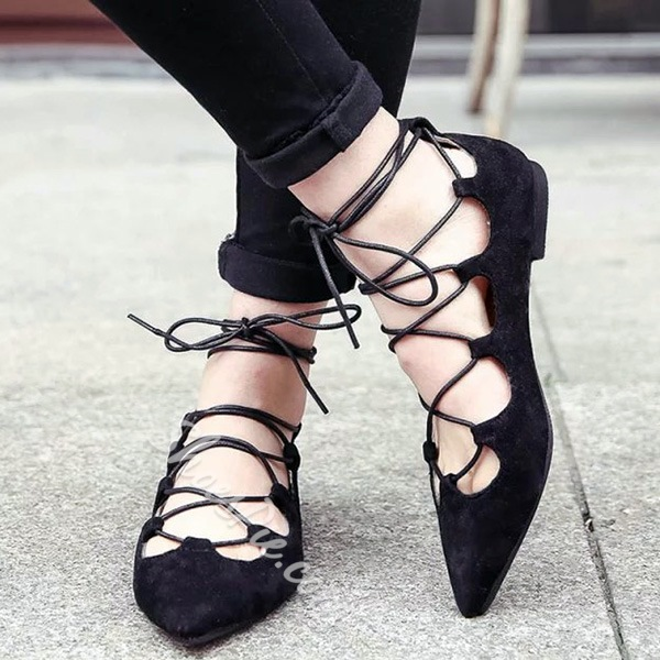 Shoespie Slouchy Lace Up Ballet Loafers