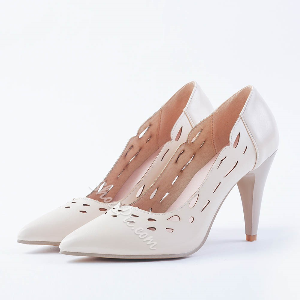 Shoespie Laser Cutout Taper Heels