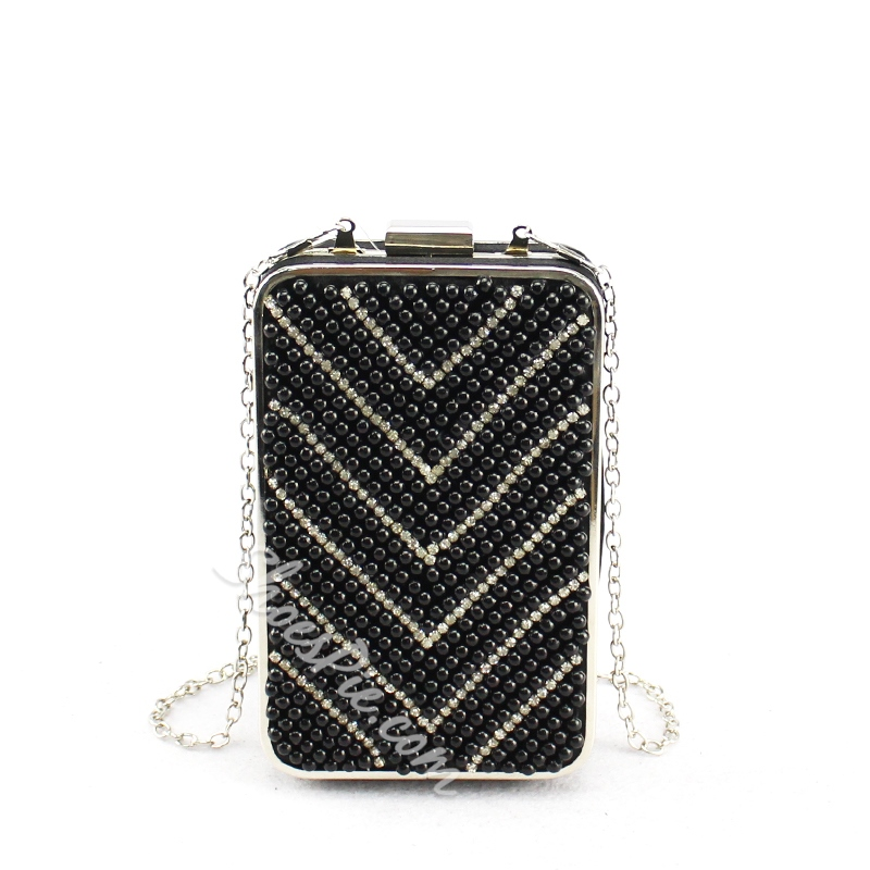 Shoespie Smart Pearl Clutch With Chain