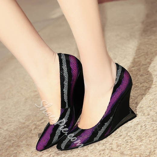 Shoespie Sparkle Changing Color Strange Wedge Heels