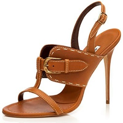 Shoespie Brown Threading And Buckle Sandals
