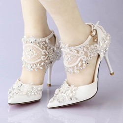 Shoespie Stylish Rhinestone Embellished Wedding Shoes