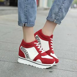 Shoespie Letters Print Thick Sole Sneakers