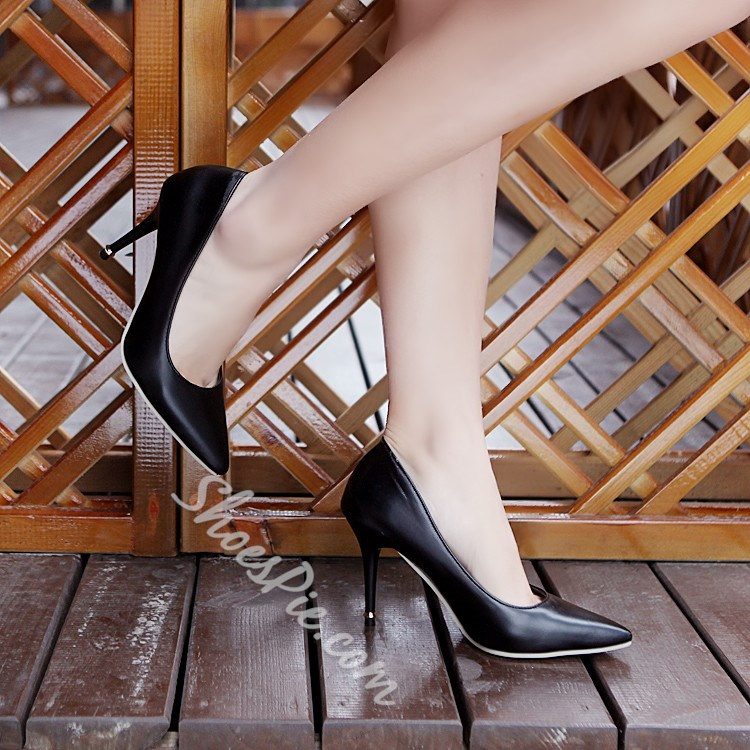 Shoespie Concise Style Solid Color Stiletto Heels