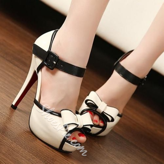 Shoespie Lady Peep Toe Platform Sandals