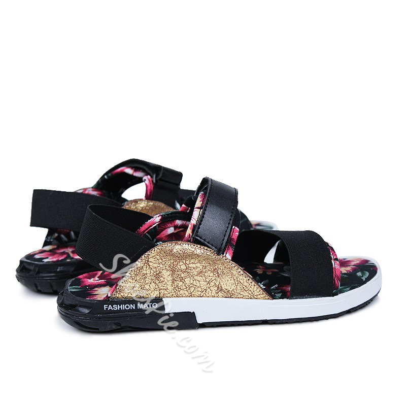 Shoespie Flower Print Men's Sandals